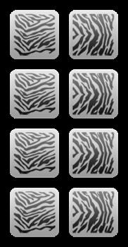 "Трафарет на липкой основе серия ""Сафари"" тигры, зебры 8 шт./упак. - фото 6306"