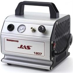 1207 Компрессор Jas 1207 с регулятором давления и ресивером 300 мл - фото 6718