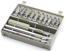 4023 Набор ножей с цанговым зажимом, 22 предмета - фото 7507