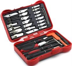 4009 Набор ножей с цанговым зажимом (алюминий), 33 предмета - фото 7540