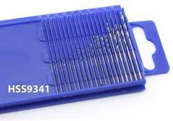 4275 Мини-сверла, диаметр 0,3 - 1,6 мм, набор, 20 шт., HSS 9341, нет покрытия - фото 7783