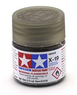 81519 Краска акриловая глянцевая X-19 Smoke Дымчатая 10 мл Tamiya - фото 8431