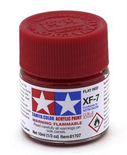 81707 Краска акриловая матовая XF-7 Red красная 10 мл Tamiya - фото 8448