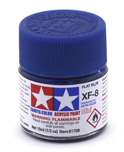 81708 Краска акриловая матовая XF-8 Blue синяя 10 мл Tamiya - фото 8449