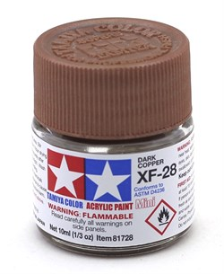 81728 Краска акриловая XF-28 Dark Copper темно-медная 10 мл Tamiya - фото 8472