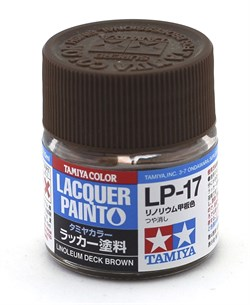 82117 Краска LP-17 Linoleum Deck Brown коричневая 10 мл Tamiya - фото 8529