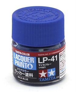 82141 Краска LP-41 Mica Blue метал.синий 10 мл Tamiya - фото 8555