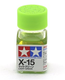 80015 Краска эмалевая глянцевая X-15 Light Green светло-зеленая 10 мл Tamiya - фото 8582