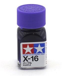 80016 Краска эмалевая глянцевая X-16 Purple фиолетовая 10 мл Tamiya - фото 8583