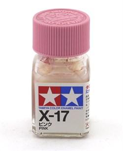 80017 Краска эмалевая глянцевая X-17 Pink розовая 10 мл Tamiya - фото 8584