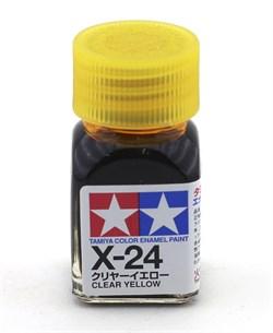 80024 Краска эмалевая глянцевая X-24 Clear Yellow прозрачно-желтая 10 мл Tamiya - фото 8587