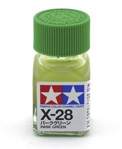 80028 Краска эмалевая глянцевая X-28 Park Green травяная зеленая 10 мл Tamiya - фото 8590