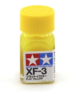80303 Краска эмалевая матовая XF-3 Flat Yellow желтая 10 мл Tamiya - фото 8597