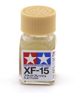 80315 Краска эмалевая матовая XF-15 Flat Flesh телесная 10 мл Tamiya - фото 8606