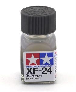 80324 Краска эмалевая матовая XF-24 Dark Gray темно-серая 10 мл Tamiya - фото 8611
