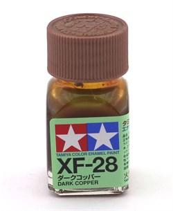 80328 Краска эмалевая матовая XF-28 Dark Copper темно-медная 10 мл Tamiya - фото 8614