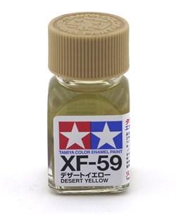 80359 Краска эмалевая матовая XF-59 Desert Yellow пустынно-желтая 10 мл Tamiya - фото 8619