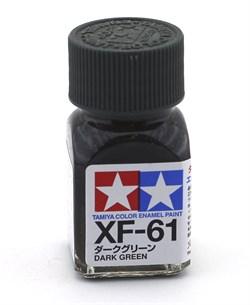 80361 Краска эмалевая матовая XF-61 Dark Green темно-зеленая 10 мл Tamiya - фото 8621