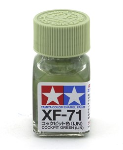 80371 Краска эмалевая матовая XF-71 Cockpit Green IJN кабина экипажа япон. 10 мл Tamiya - фото 8626