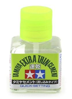 87182 Супержидкий клей Extra Thin Quick Setting 40 мл Tamiya - фото 9237