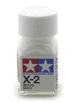 80002 Краска эмалевая глянцевая X-2 White белая 10 мл Tamiya - фото 9568