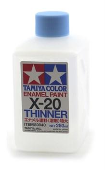 80040 Растворитель для эмали X-20 Enamel Thinner 250 мл Tamiya - фото 9578