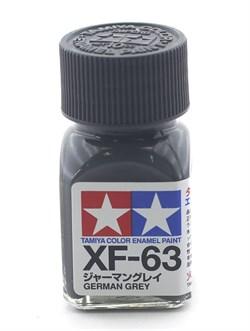 80363 Краска эмалевая матовая XF-63 German Gray немецкая серая 10 мл Tamiya - фото 9586