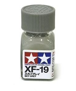 80319 Краска эмалевая матовая XF-19 Sky Gray небесная серая 10 мл Tamiya - фото 9992