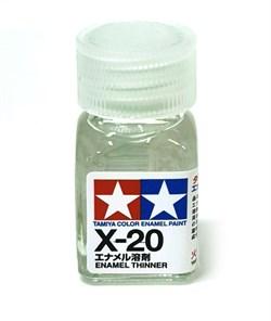 80020 Растворитель для эмали X-20 Enamel Thinner 10 мл Tamiya - фото 9993
