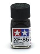 80385 Краска эмалевая матовая XF-85 Rubber Black резиновый черный 10 мл Tamiya