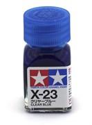 80023 Краска эмалевая глянцевая X-23 Clear Blue прозрачно-синяя 10 мл Tamiya