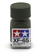 80365 Краска эмалевая матовая XF-65 Field Gray полевая серая 10 мл Tamiya