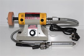 10501 Станок точильно-полировальный Jas, сверление, с гибким валом, 350 Вт, 30000 об/мин., плавная регулировка