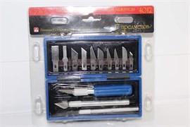 4012 Набор ножей с цанговым зажимом (алюминий), 17 предметов