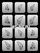 Трафарет на липкой основе Level2 №3 Эффект бабочки