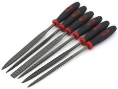 4304 Набор надфилей с ручками, крупная насечка, 6 шт., блистер + чехол