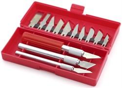 4014 Набор ножей с цанговым зажимом (алюминий), 16 предметов