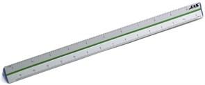 4701 Линейка трехгранная, 6 масштабов, алюминиевая, 30 см