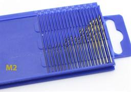4278 Мини-сверла, диаметр 0,3 - 1,6 мм, набор, 20 шт., HSS 6542, нитрид-титановое покрытие