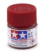 81507 Краска акриловая глянцевая X-7 Red красная 10 мл Tamiya