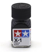 80001 Краска эмалевая X-1 Black черная 10 мл Tamiya