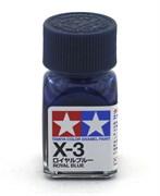 80003 Краска эмалевая X-3 Royal Blue королевская синяя 10 мл Tamiya