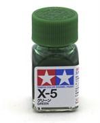 80005 Краска эмалевая X-5 Green зеленая 10 мл Tamiya