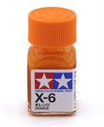 80006 Краска эмалевая X-6 Orange оранжевая 10 мл Tamiya