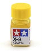 80008 Краска эмалевая X-8 Lemon Yellow лимонно-желтая 10 мл Tamiya