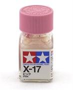 80017 Краска эмалевая X-17 Pink розовая 10 мл Tamiya