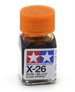 80026 Краска эмалевая X-26 Clear Orange прозрачно-оранжевая 10 мл Tamiya