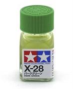 80028 Краска эмалевая X-28 Park Green травяная зеленая 10 мл Tamiya