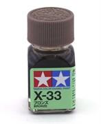 80033 Краска эмалевая X-33 Bronze бронзовый металлик 10 мл Tamiya
