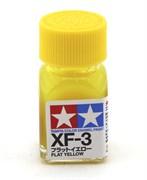 80303 Краска эмалевая XF-3 Flat Yellow желтая 10 мл Tamiya